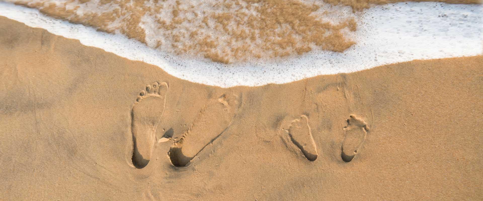 Footprints on Candolim Beach