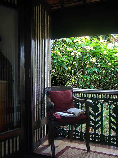 Enjoy a Book on the Private Balcony of the Master Bedroom at Rockheart