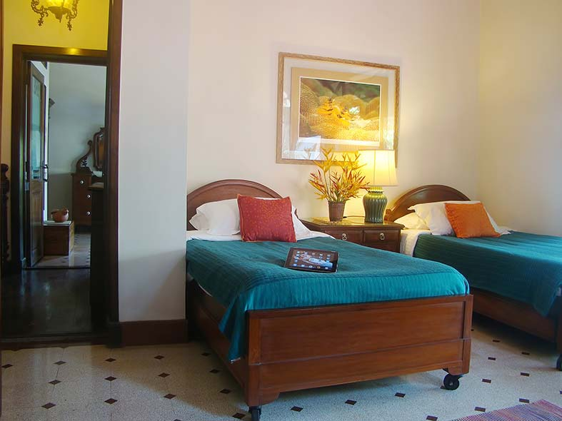 Joinable Twin Beds in the Second Bedroom at Rockheart Goa